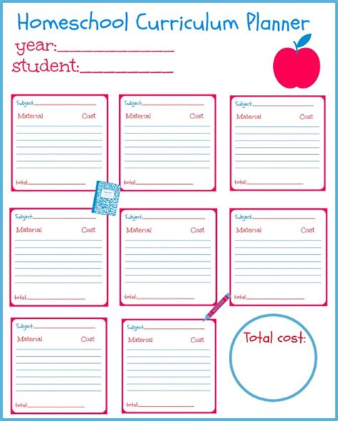 printable planner homeschool plan this school year s homeschool curriculum with this