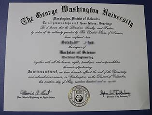 Gwu Mba Diploma by American Degree Certifcate Us