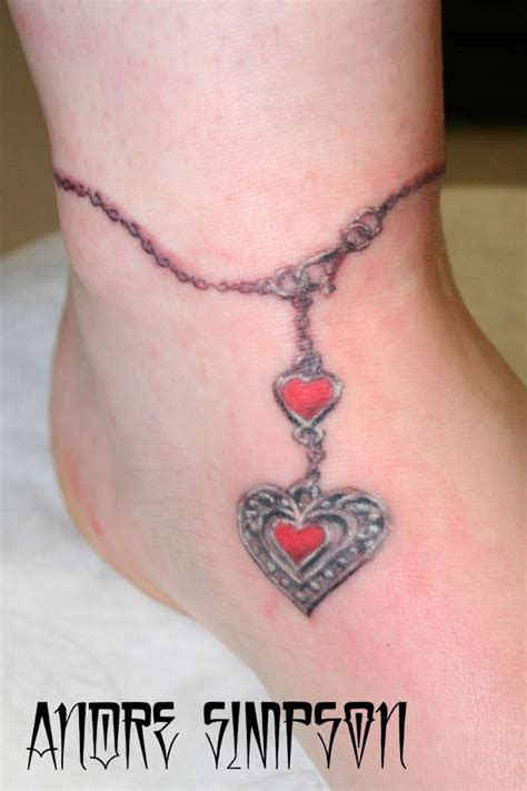 bracelet tattoo designs with names tattoos with names pendant anklet by