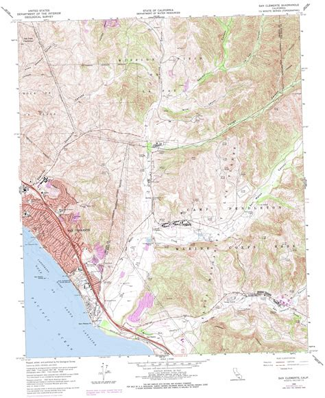 san jose topographic map san clemente topographic map ca usgs topo 33117d5
