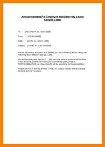 Letter Of Maternity To Employer Template by How To Write A Letter Requesting For Maternity Leave