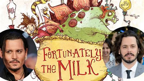 libro fortunately the milk fortunately the milk edgar wright e johnny depp in trattative
