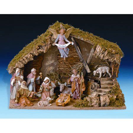 christmas stable walmart fontanini eleven figurine set with italian stable walmart