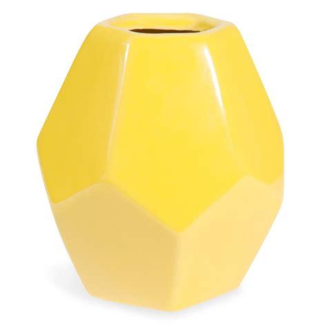 vase en c 233 ramique jaune h 21 cm maisons du monde