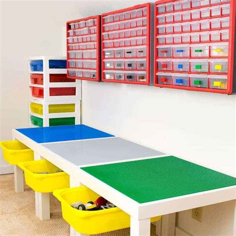 l tables with storage diy lego table with storage the handyman s