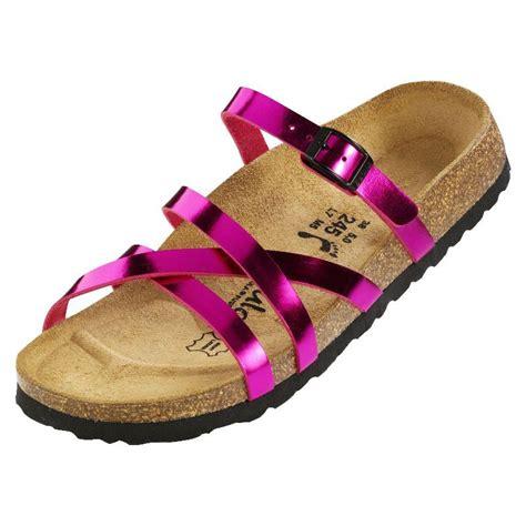 Sandal Sydney Pete Floral Stripe betula stripes cross buckle sandals gold silver pink birko flor ebay