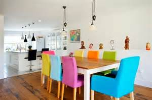 Colorful Lounge Chairs Design Ideas Colorful Dining Chairs With Wooden Dining Table Decolover Net