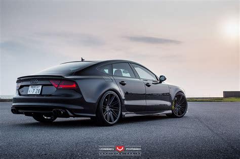 Audi S7 by Audi S7 Sedan Vossen Wheels Cars Black Wallpaper