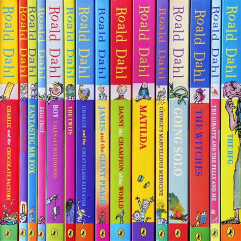 Novel Roald Dahl Boy And Going Buku Import roald dahl phizz whizzing collection 15 book box set 163 98 85 uk tracked delivery ebay
