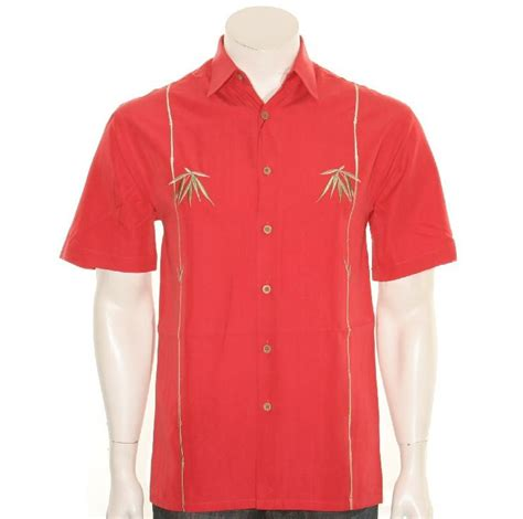 bamboo cay bamboo cay quot dual bamboos quot s aloha shirt tomato hilo hattie the store of hawaii