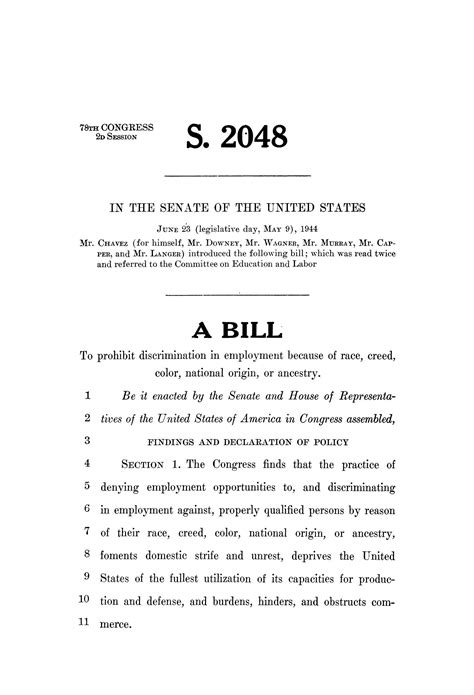78th u s congress second session senate bill 2048 the