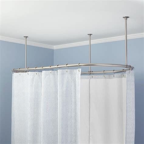 oval solid brass shower curtain rod bathroom