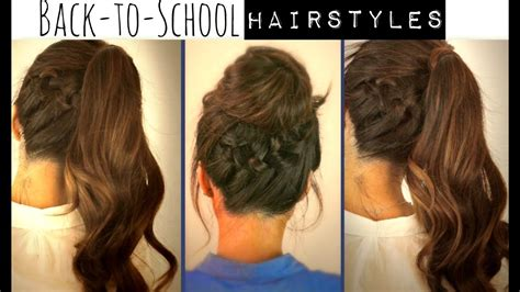 back to school hairstyles for hair back to school hairstyles braided ponytail bun updos for medium hair