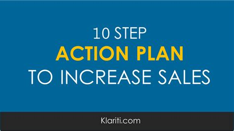 business plan to increase sales template 10 step plan for increasing sales