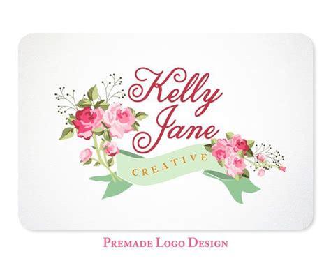 design logo shabby chic shabby chic rose logo premade design for photographers