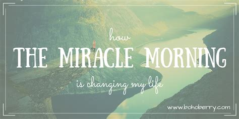 The Miracle Summary The Miracle Morning Book Review Boho Berry
