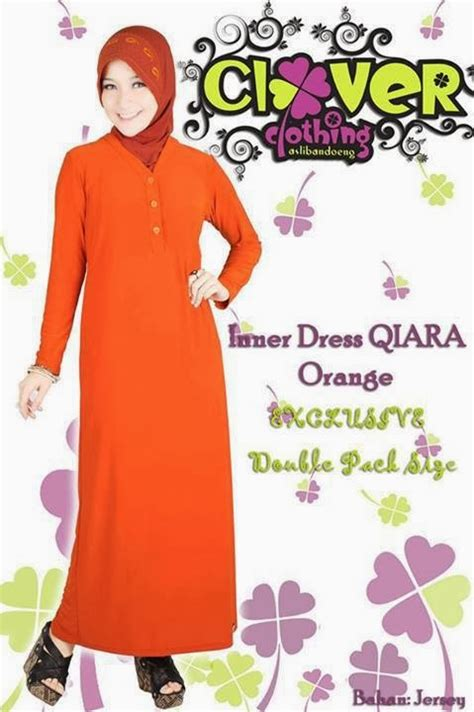 Gamis Dress Cantik Jersey Polos Bd138 muslimina fashion gamis clover clothing