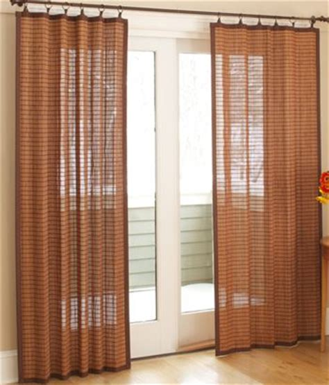 country door curtains banded bamboo panel 49 59 country curtains beach