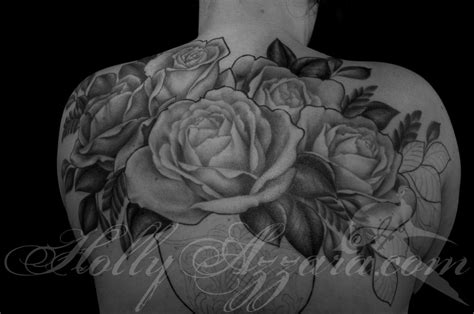 tattoos of roses on back roses in vase back in progress by azzara
