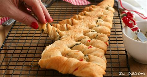 crescent roll christmas spinach dip stuffed crescent roll tree real housemoms