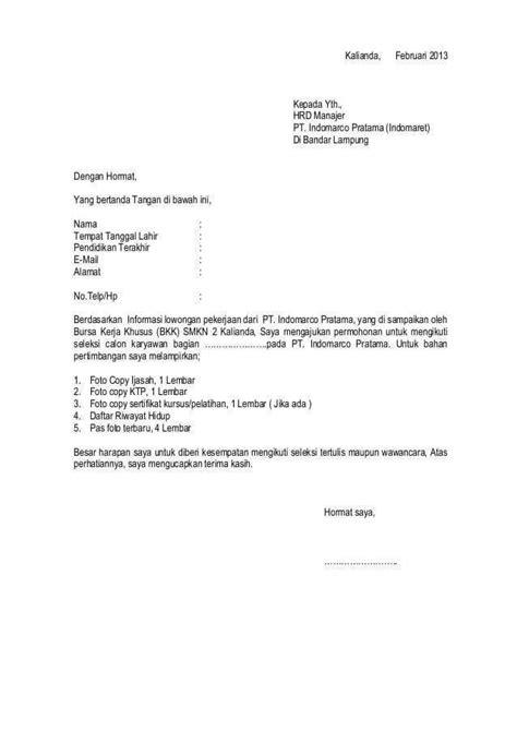Contoh Surat Lamaran Hrd - Kumpulan Contoh Surat dan Soal