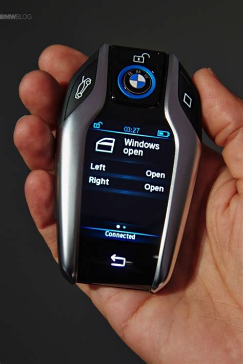 bmw key fob bmw introduces the key fob with touchscreen display