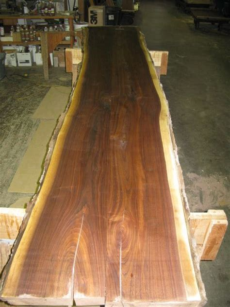 Tree Trunk Bar Top by Thick Slab Table Top Construction