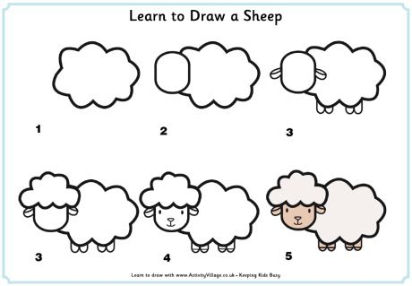 how to sheep how to draw a sheep step