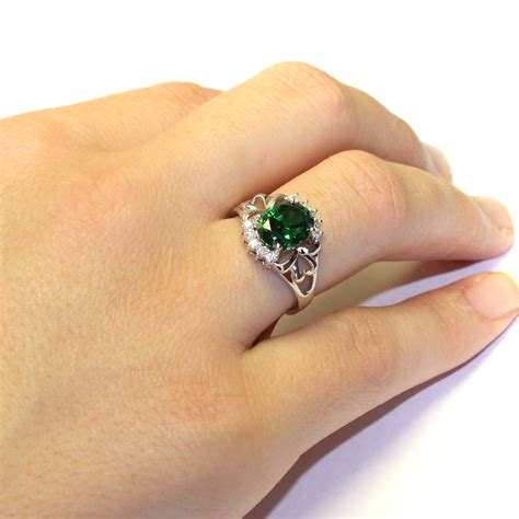 emerald green classic promise ring promise rings