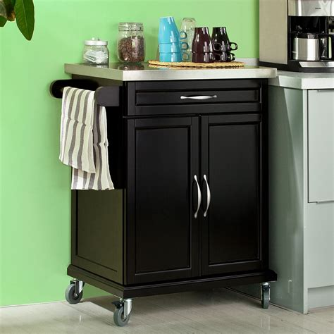 kitchen cabinets on wheels sobuy 174 wood kitchen cabinet kitchen cart trolley with