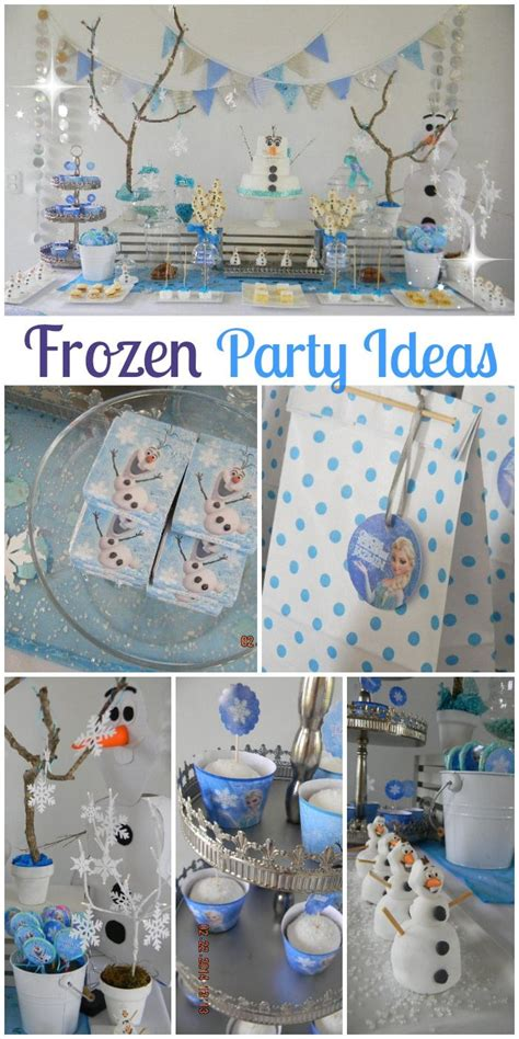 75 diy frozen birthday party ideas about family crafts southern blue celebrations frozen party ideas