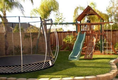 cheap backyard playground ideas summer fun with garden troline what says stiftung