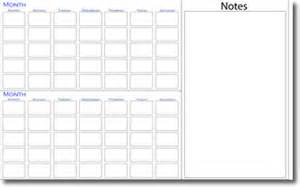 2 month calendar template free 5 best images of two month calendar printable two page