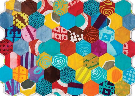 Patchwork Shapes - pin patchwork hexagon pattern free quilting pictures on