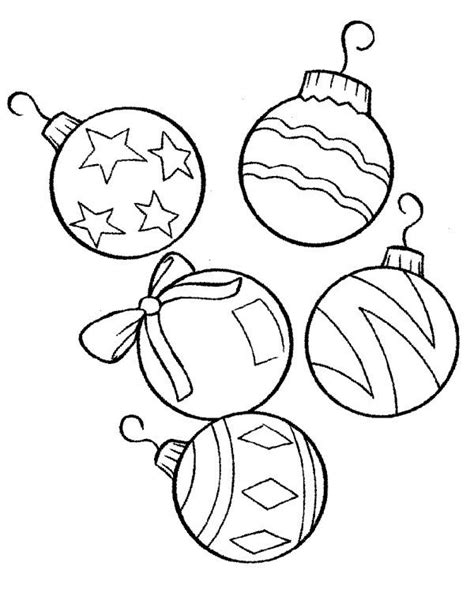 Printable Christmas Ornaments For Kids Coloring Home Tree Ornaments Coloring Pages