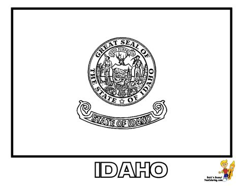 gallant state flags coloring idaho montana free