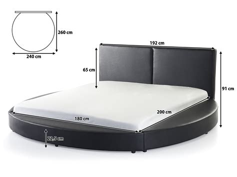 Sa 2178 Time Black White Leather bed 180x200 cm king size genuine leather with slatted frame black lavalfurniture