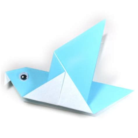 Simple Origami Birds - how to make a traditional origami pigeon page 1
