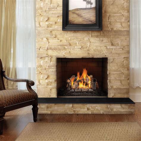 gas fireplace set napoleon fiberglow vented gas log set fireplace