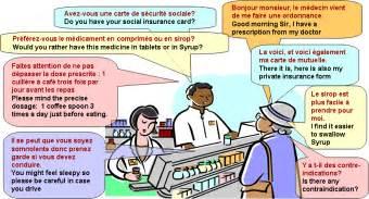 dialogue chez le pharmacien anglais