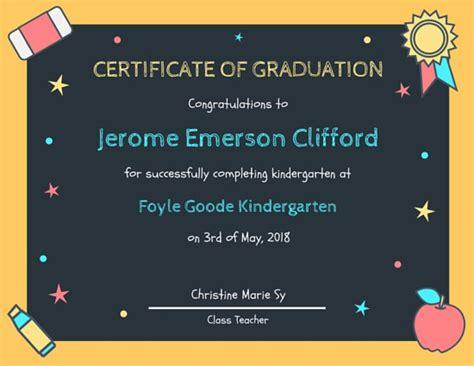 Vintage Home Interiors chalkboard kindergarten diploma certificate templates by