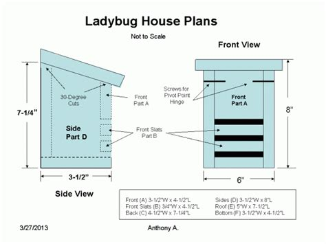 How To Make House Plans | ladybug house plans lady bug farming pinterest