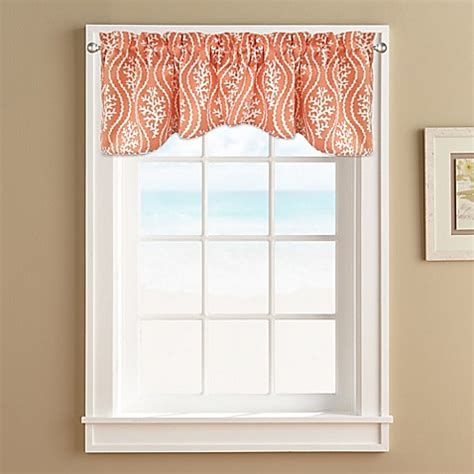 Coral Valance Curtains Coral Reef Window Valance Bed Bath Beyond