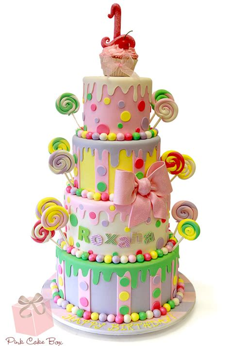 1st Birthday Cake by Click To Enlarge Lollipop Cupcake Birthday Cake