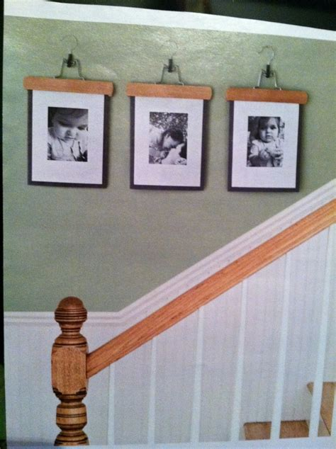 unique ways to hang pictures what a unique way to hang pictures or prints a wooden