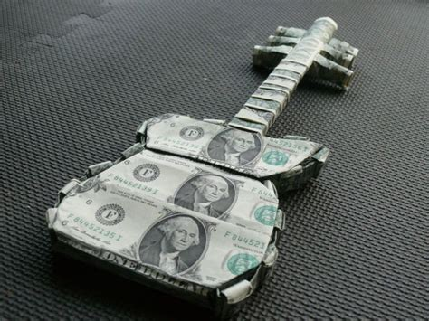 Dollar Origami Guitar - 119 best money bouquets images on