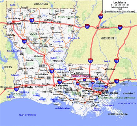 louisiana map i 10 lsu independent and distance learning maps
