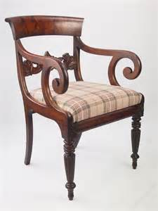 mahogany armchair william iv mahogany armchair or desk chair antiques atlas