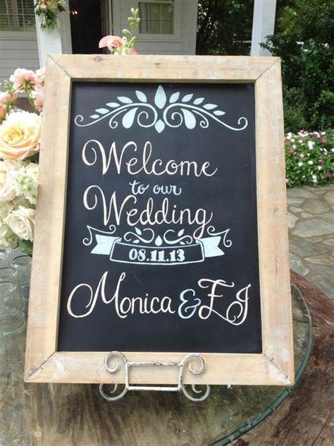 23 best images about Wedding welcome sign on Pinterest