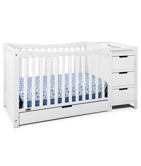 graco remi crib and changing table graco remi 4 in 1 convertible crib and changer white